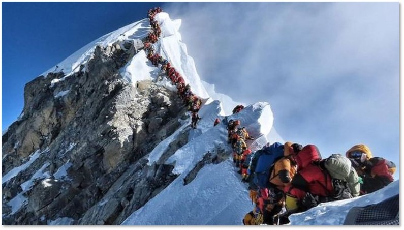 Mount Everest, Southwest Ridge, climbers, Death Zone, death toll
