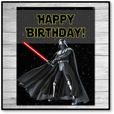Happy birthday! Darth Vader, Star Wars, light saber