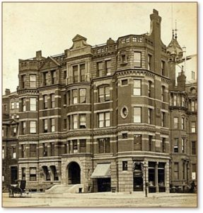 Hotel Aubry, Back Bay, William G. Preston, parking lot