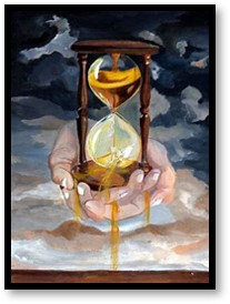 hourglass, saving time, living in the moment