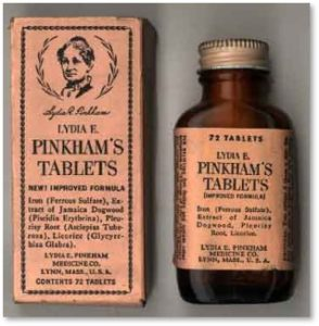 Lydia Pinkham's Vegetable Compound, women's health, patent medicine
