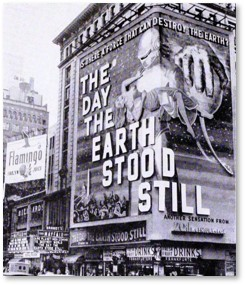 The Day the Earth Stood Still, science fiction movies, theater marquee
