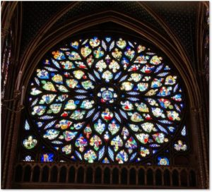 Rose Window, Sainte Chapelle, Book of Revelations, stained glass