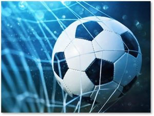 soccer ball, soccer ball in net