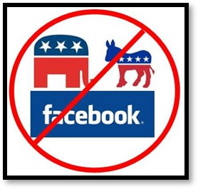 Facebook, No Politics, Democrat, Republican