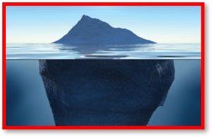 iceberg, tip of the iceberg, masking symptoms