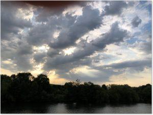 Morning, clouds, Viking Longship, Viking Rinda, Seine River