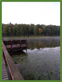 Wisconsin, lake, bench at the end of the dock, silence