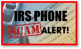 IRS phone scam, telephone fraud, scam alert