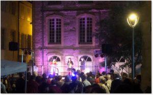Tournon, mid-summer festival, band