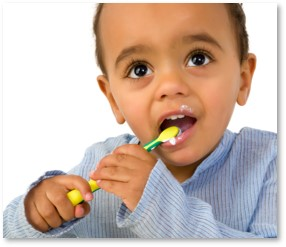 boy brushing teeth, children's dental care, dental health