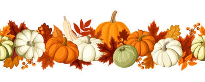 roundup of September 2019 posts, fall harvest banner, pumpkins