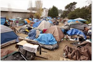 Homeless camp, Santa Cruz