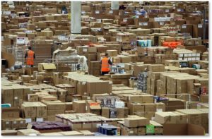 Amazon warehouse, online ordering, shipping, holiday shipping