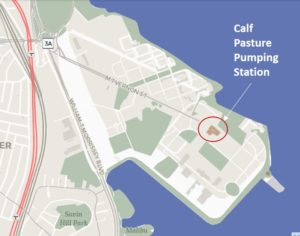 Calf Pasture Pumping Station, Columbia Point, Kennedy Library, UMass Boston,