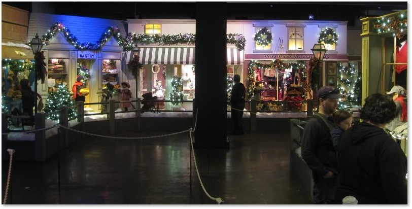 Enchanted Village of St Nicholas, Jordan Marsh, Christmas, department store windows, dioramas