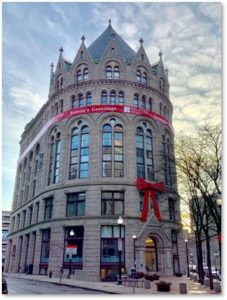 Flour and Grain Exchange, red ribbon, Brian Amirault, Richardsonian Romanesque