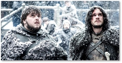 Game of Thrones, Sam Tarly, Jon Snow, boring hero