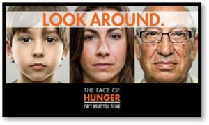 Look around at the face of hunger