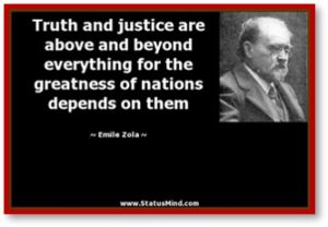Truth and Justice, Emile Zola, greatness of nations