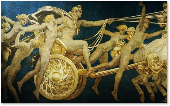 John Singer Sargent, Apollo in His Chariot with the Hours, Boston Museum of Fine Arts,MFA