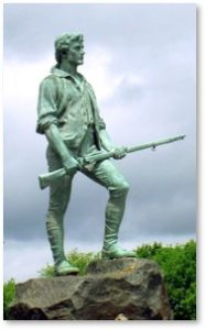 Captain John Parker, Minutemen, Lexington Battle Green, April 19 1775