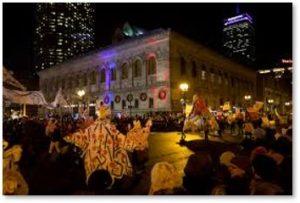 First Night Boston, Copley Square, Boston Public Library, Boston's five first events