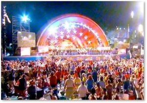 Hatch Shell, Boston Pops, Esplanade, Fourth of July, 1812 Overture, Boston's five first events