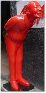 plastic man sculpture, microplastic