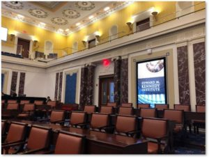 US Senate Chamber, EMK Institute, historic desks