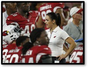 Jen Welter, NFL, female coaching intern, Tampa Bay Buccaneers