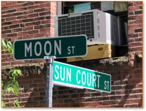 Moon Street, Sun Court Street, North End, Boston