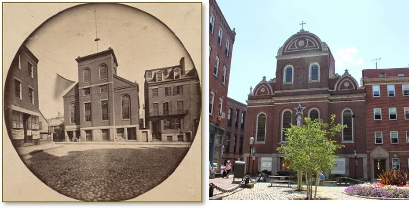 Moon Street, North End, North Square, Boston, Sacred Heart Church