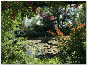 Pond with Waterlilies, Giverny, Monet's Gardens, Japanese bridge