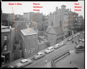 North End, North Square, Baker's Alley, Pierce-Hichborn House, Paul Revere House