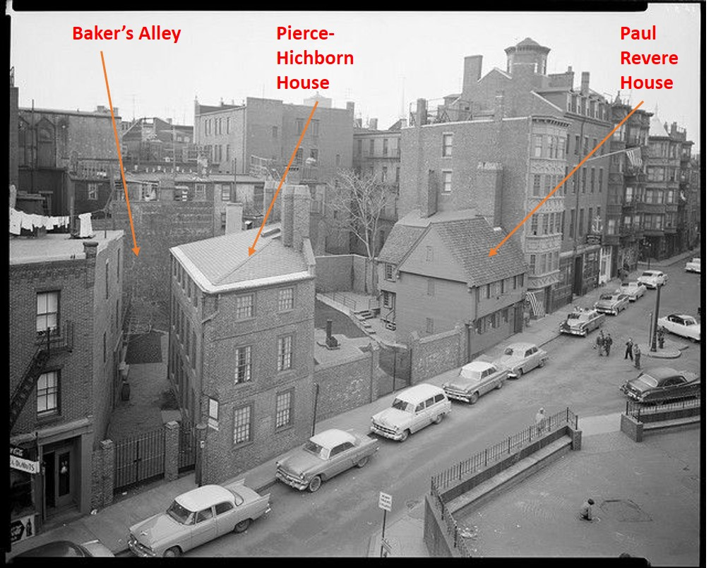 Boston's Streets, North End, North Square, Baker's Alley, Pierce-Hichborn House, Paul Revere House
