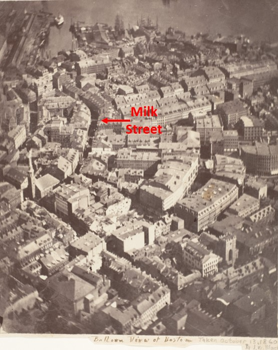 Milk Street, Aerial Photo, Boston, James Wallace Black