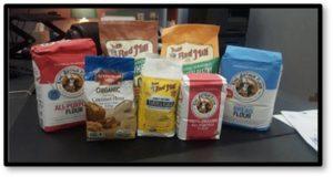 bags of flour, King Arthur Flour, Bob's Red Mill, bread flour, cake flour