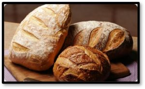 Home-baked bread, loaves of bread, fresh bread