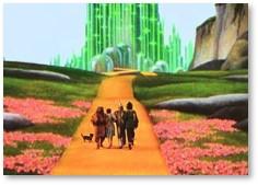 emerald city, yellow brick road, wizard of oz