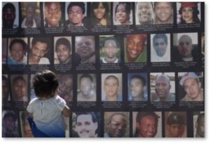 poster of black people killed by police, police violence