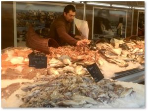 Fish market, Bordeaux, French food, fresh fish