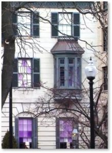 purple glass, Beacon Hill, the Lavenders