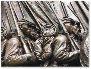 Robert Gould Shaw Memorial, Beacon Hill, Massachusetts 54th Regiment, Glory