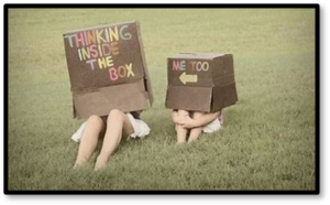 Think inside the box, silver lining, little girls