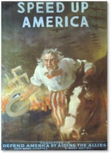Uncle Sam, WWII Poster, Speed Up America