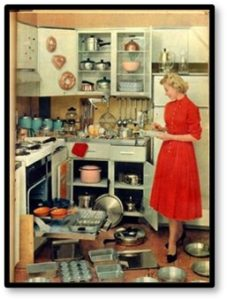 50s woman in kitchen, In the Kitchen with Suze, cooking, recipes