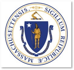 Massachusetts state flag, Indian, Sword