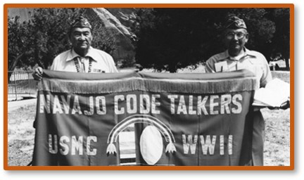 Navajo Code Talkers, Banner, WWII, World War II, encryption