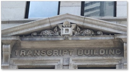 Transcript Building, Henry Dutton, Washington Street, Boston, Newspaper Row